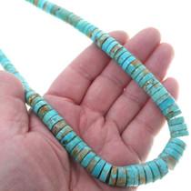 Native American Kingman Turquoise Heishi Necklace 34912