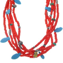 Old Beaded Squaw Wrap Necklace 34915