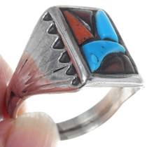Vintage Cobblestone Inlay Mens Ring 34916