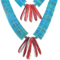 Native American Turquoise Santo Domingo Necklace 34917