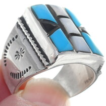Zuni Sterling Silver Turquoise Ring 34918