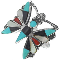 Zuni Turquoise Butterfly Ring 34919