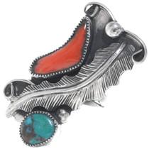 Vintage Bisbee Turquoise Navajo Ring 34920