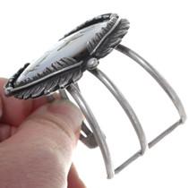 Sterling Silver Mother of Pearl Kachina Bracelet 34921