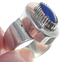 Handmade Native American Lapis Gemstone Ring 34922