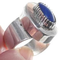 Handmade Native American Lapis Gemstone Ring 34922