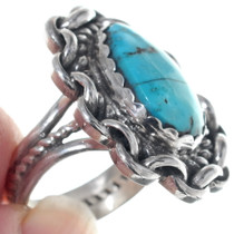 Ithaca Peak Turquoise Navajo Sterling Silver Ring 34924