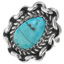 Vintage Turquoise Silver Ladies Ring 34924