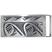 Old Pawn Hopi Sterling Silver Belt Buckle 34930