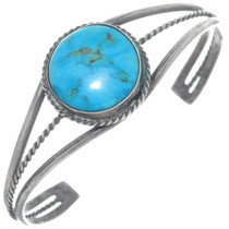 Old Pawn Turquoise Silver Bracelet 34937
