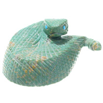 Green Turquoise Zuni Rattlesnake Fetish 34943