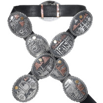 Epic Navajo Storyteller Concho Belt Masterpiece 34950