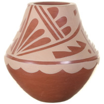Small Hand Painted Redware Native American Pottery 34960