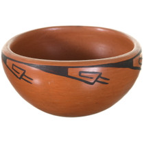 Vintage Maricopa Redware Pottery Bowl 34961