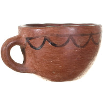 Native American Redware Cup with Handle 34964