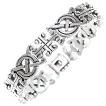 Vintage Silver Celtic Link Bracelet 34991