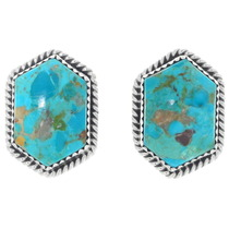 Southwest Turquoise Sterling Post Earrings 34992
