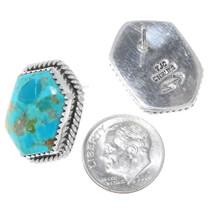 Sterling Silver Kingman Turquoise Earrings 34992