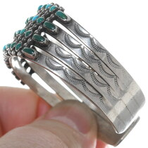 Sterling Silver Native American Turquoise Cuff Bracelet 34999