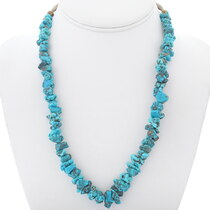 Vintage Kingman Turquoise Nugget Necklace 35001