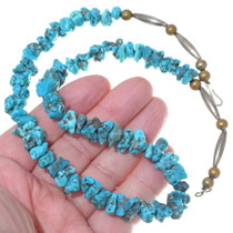 Turquoise Nugget Beaded Navajo Necklace 35001