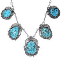 Navajo Simon Yazzie Sleeping Beauty Turquoise Necklace 35002