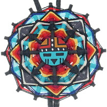 Vintage Native American Sunface Bolo Tie 35005