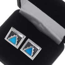 Vintage Turquoise Cuff Links 35007