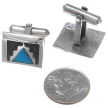 1970s Turquoise Sterling Silver Cuff Links 35007