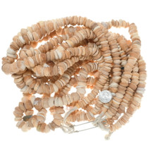 Tan Cream Chunky Shell Beads Strand 35009