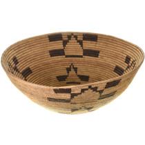 Frog Pattern Indian Mission Basket Bowl Basket 33615