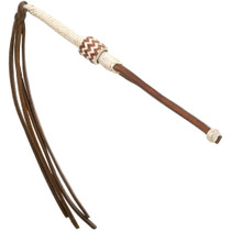 Vintage Braided Rawhide Leather Quirt 35022