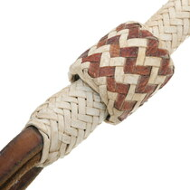 Braided Leather Handle Riding Whip 35022