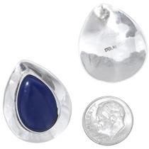 Sterling Silver Teardrop Lapis Earrings 35029
