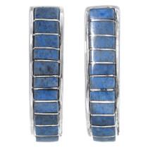 Navajo Inlaid Denim Lapis Earrings 35031