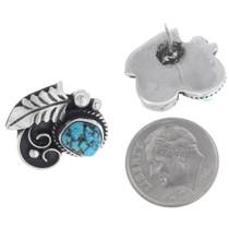 Vintage Sterling Silver Turquoise Stud Earrings 35032