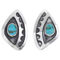 Overlaid Silver Turquoise Earrings 35034
