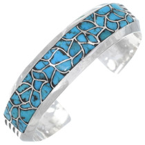Old Pawn Inlaid Turquoise Inlay Bracelet 35043