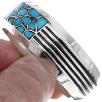Native American Sterling Silver Turquoise Cuff Bracelet 35043