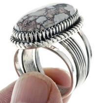 Navajo Sterling Silver Gemstone Ring 24755