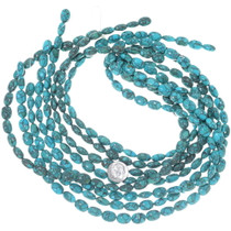 Deep Color Oval Turquoise Beads 34745