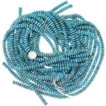 Turquoise Beads 9mm Rondelle Blue Green 34746