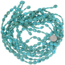 High Grade Turquoise Beads Flat Oval Disc 34747