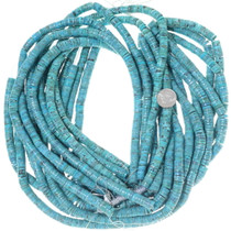 Turquoise Beads 9mm Heishi Strands 34751