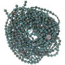 Turquoise Caramel Matrix Rounded Pillow Beads 34753
