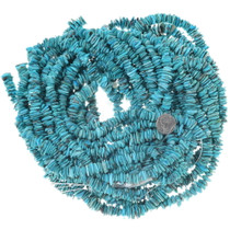 Turquoise Flats Bright Color Bead Strand 34754