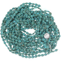 Polished Blue Green Turquoise Oval Beads 34755