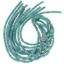 9mm Rondelle Turquoise Beads 34756