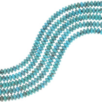 Real Turquoise Rondelle Beads 34757