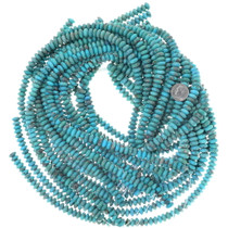 Deep Blue Aqua Turquoise Beads 9mm Rondelle 34757